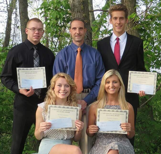 Recent Cartwright orthodontics scholarship recipients